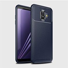 Silikon Hülle Handyhülle Gummi Schutzhülle Tasche Köper für Samsung Galaxy A6 (2018) Blau
