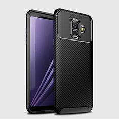 Silikon Hülle Handyhülle Gummi Schutzhülle Tasche Köper für Samsung Galaxy A6 (2018) Schwarz