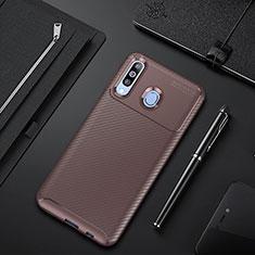 Silikon Hülle Handyhülle Gummi Schutzhülle Tasche Köper für Samsung Galaxy A60 Braun