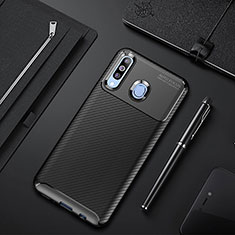 Silikon Hülle Handyhülle Gummi Schutzhülle Tasche Köper für Samsung Galaxy A60 Schwarz