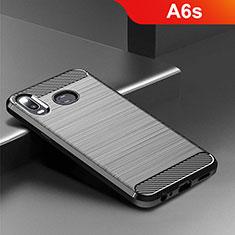 Silikon Hülle Handyhülle Gummi Schutzhülle Tasche Köper für Samsung Galaxy A6s Schwarz