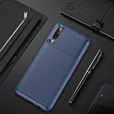 Silikon Hülle Handyhülle Gummi Schutzhülle Tasche Köper für Samsung Galaxy A70 Blau