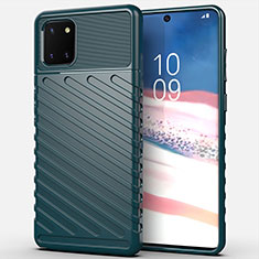 Silikon Hülle Handyhülle Gummi Schutzhülle Tasche Köper für Samsung Galaxy A81 Grün
