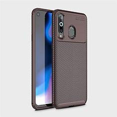 Silikon Hülle Handyhülle Gummi Schutzhülle Tasche Köper für Samsung Galaxy A8s SM-G8870 Braun