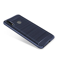 Silikon Hülle Handyhülle Gummi Schutzhülle Tasche Köper für Samsung Galaxy A9 Star SM-G8850 Blau