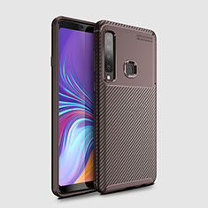 Silikon Hülle Handyhülle Gummi Schutzhülle Tasche Köper für Samsung Galaxy A9s Braun