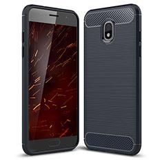 Silikon Hülle Handyhülle Gummi Schutzhülle Tasche Köper für Samsung Galaxy J3 (2018) SM-J377A Blau