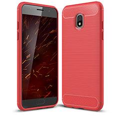 Silikon Hülle Handyhülle Gummi Schutzhülle Tasche Köper für Samsung Galaxy J3 (2018) SM-J377A Rot