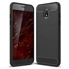 Silikon Hülle Handyhülle Gummi Schutzhülle Tasche Köper für Samsung Galaxy J3 (2018) SM-J377A Schwarz