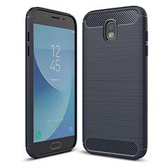 Silikon Hülle Handyhülle Gummi Schutzhülle Tasche Köper für Samsung Galaxy J5 (2017) SM-J750F Blau