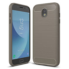 Silikon Hülle Handyhülle Gummi Schutzhülle Tasche Köper für Samsung Galaxy J5 (2017) SM-J750F Grau