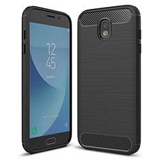 Silikon Hülle Handyhülle Gummi Schutzhülle Tasche Köper für Samsung Galaxy J5 (2017) SM-J750F Schwarz