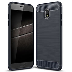 Silikon Hülle Handyhülle Gummi Schutzhülle Tasche Köper für Samsung Galaxy J7 (2018) J737 Blau