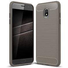 Silikon Hülle Handyhülle Gummi Schutzhülle Tasche Köper für Samsung Galaxy J7 (2018) J737 Grau