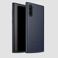 Silikon Hülle Handyhülle Gummi Schutzhülle Tasche Köper für Samsung Galaxy Note 10 5G Blau