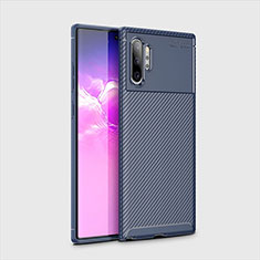 Silikon Hülle Handyhülle Gummi Schutzhülle Tasche Köper für Samsung Galaxy Note 10 Plus 5G Blau