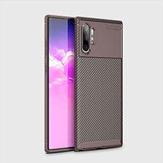 Silikon Hülle Handyhülle Gummi Schutzhülle Tasche Köper für Samsung Galaxy Note 10 Plus Braun