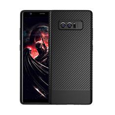 Silikon Hülle Handyhülle Gummi Schutzhülle Tasche Köper für Samsung Galaxy Note 8 Schwarz