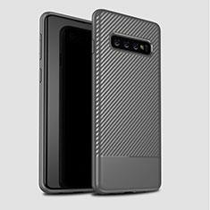Silikon Hülle Handyhülle Gummi Schutzhülle Tasche Köper für Samsung Galaxy S10 Grau