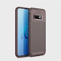 Silikon Hülle Handyhülle Gummi Schutzhülle Tasche Köper für Samsung Galaxy S10e Braun