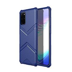 Silikon Hülle Handyhülle Gummi Schutzhülle Tasche Köper für Samsung Galaxy S20 Plus 5G Blau