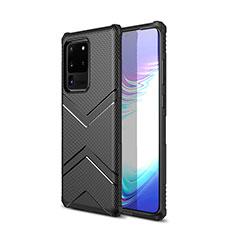 Silikon Hülle Handyhülle Gummi Schutzhülle Tasche Köper für Samsung Galaxy S20 Ultra 5G Schwarz