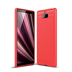 Silikon Hülle Handyhülle Gummi Schutzhülle Tasche Köper für Sony Xperia 10 Plus Rot
