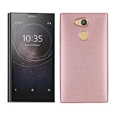 Silikon Hülle Handyhülle Gummi Schutzhülle Tasche Köper für Sony Xperia L2 Rosegold