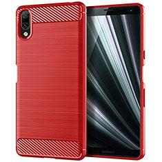 Silikon Hülle Handyhülle Gummi Schutzhülle Tasche Köper für Sony Xperia L3 Rot