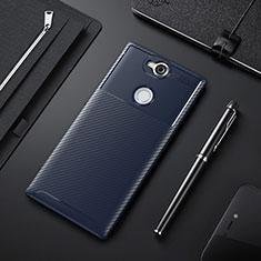 Silikon Hülle Handyhülle Gummi Schutzhülle Tasche Köper für Sony Xperia XA2 Blau