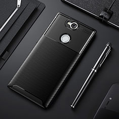 Silikon Hülle Handyhülle Gummi Schutzhülle Tasche Köper für Sony Xperia XA2 Plus Schwarz