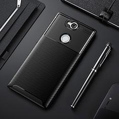 Silikon Hülle Handyhülle Gummi Schutzhülle Tasche Köper für Sony Xperia XA2 Schwarz