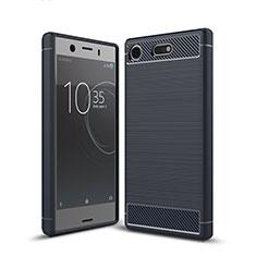 Silikon Hülle Handyhülle Gummi Schutzhülle Tasche Köper für Sony Xperia XZ1 Compact Blau