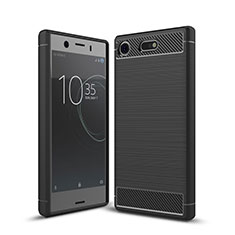 Silikon Hülle Handyhülle Gummi Schutzhülle Tasche Köper für Sony Xperia XZ1 Compact Schwarz
