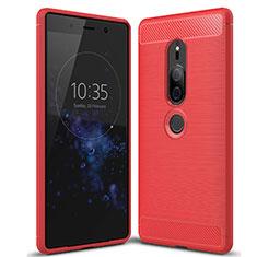 Silikon Hülle Handyhülle Gummi Schutzhülle Tasche Köper für Sony Xperia XZ2 Premium Rot