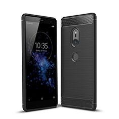 Silikon Hülle Handyhülle Gummi Schutzhülle Tasche Köper für Sony Xperia XZ2 Schwarz