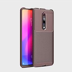 Silikon Hülle Handyhülle Gummi Schutzhülle Tasche Köper für Xiaomi Mi 9T Braun
