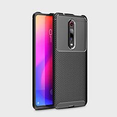 Silikon Hülle Handyhülle Gummi Schutzhülle Tasche Köper für Xiaomi Mi 9T Schwarz