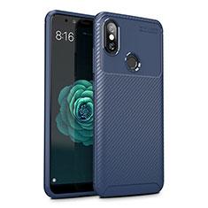 Silikon Hülle Handyhülle Gummi Schutzhülle Tasche Köper für Xiaomi Mi A2 Lite Blau