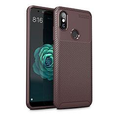 Silikon Hülle Handyhülle Gummi Schutzhülle Tasche Köper für Xiaomi Mi A2 Lite Braun