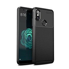Silikon Hülle Handyhülle Gummi Schutzhülle Tasche Köper für Xiaomi Mi A2 Schwarz