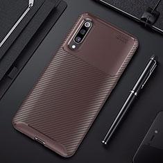 Silikon Hülle Handyhülle Gummi Schutzhülle Tasche Köper für Xiaomi Mi A3 Lite Braun