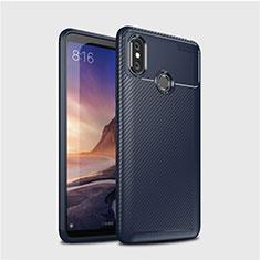 Silikon Hülle Handyhülle Gummi Schutzhülle Tasche Köper für Xiaomi Mi Max 3 Blau