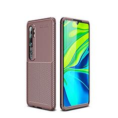 Silikon Hülle Handyhülle Gummi Schutzhülle Tasche Köper für Xiaomi Mi Note 10 Braun