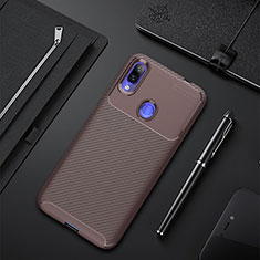 Silikon Hülle Handyhülle Gummi Schutzhülle Tasche Köper für Xiaomi Redmi 7 Braun