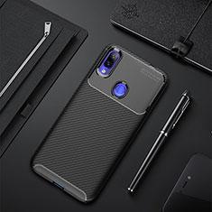 Silikon Hülle Handyhülle Gummi Schutzhülle Tasche Köper für Xiaomi Redmi 7 Schwarz
