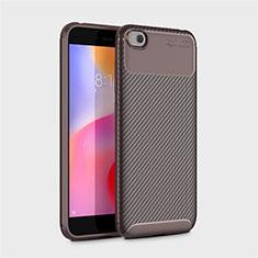 Silikon Hülle Handyhülle Gummi Schutzhülle Tasche Köper für Xiaomi Redmi Go Braun