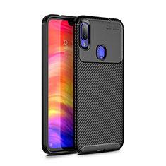 Silikon Hülle Handyhülle Gummi Schutzhülle Tasche Köper für Xiaomi Redmi Note 7 Schwarz