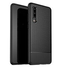 Silikon Hülle Handyhülle Gummi Schutzhülle Tasche Köper G02 für Huawei P30 Schwarz