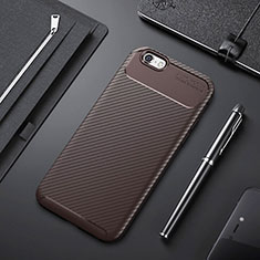 Silikon Hülle Handyhülle Gummi Schutzhülle Tasche Köper S01 für Apple iPhone 6S Plus Braun